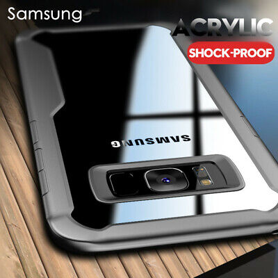 For Samsung Galaxy S10 S9 S8 Note 10 A7 A6 A8 Shockproof Arylic Clear Case Cover
