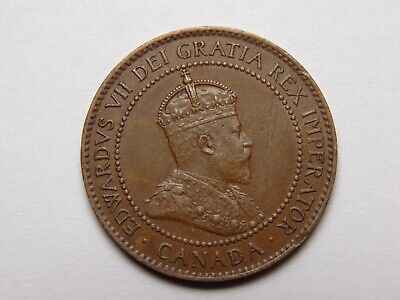 1905 Canada Edward Vii Bronze Large Cent Au Very Nice! Must See!!