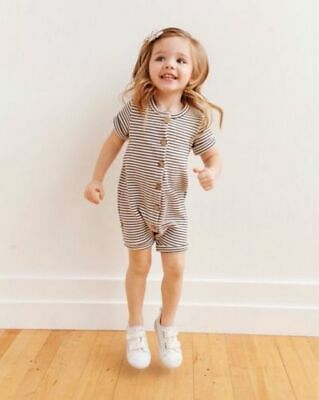 Newborn Baby Boys Girls Toddler Striped Romper Jumpsuit  Cotton Outfits