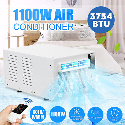 1100W 3754BTU Portable Window Air Conditioner Refrigerated Summer Cooler Remote