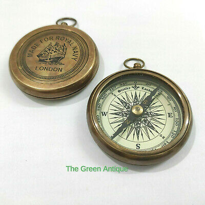 Antique Style Brass Compass Nautical Collectible Gift