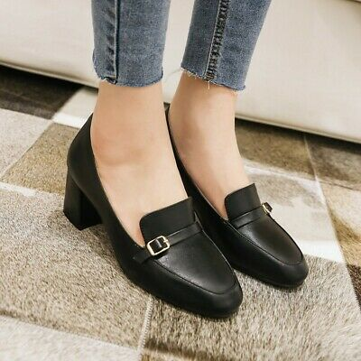 Details about  /Pointy Toe Loafers Office OL Pumps Womens Comfort Casual Low Heel Shoes 44//48 D