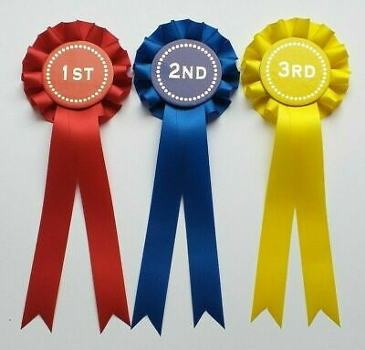 Rosettes 1st-6th 1-Tier 1st-6th x 1 of each