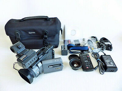 Sony DSR-PDX10P Professional 3CCD DVCAM Camcorder mit 8,9 cm LCD Monitor