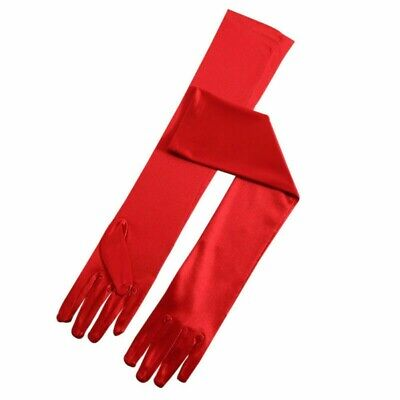 Ladies Red Opera Gloves Long Elbow Length Fashion Gloves 1920S Flapper Costume
