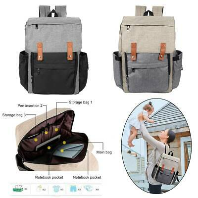 Grand bébé Nappy Diaper Mummy Maternity Messenger Backpack Tote Bag With Hooks