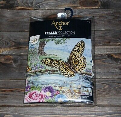 Anchor Maia Counted Cross Stitch Kit 3D Butterfly 5678000-01232