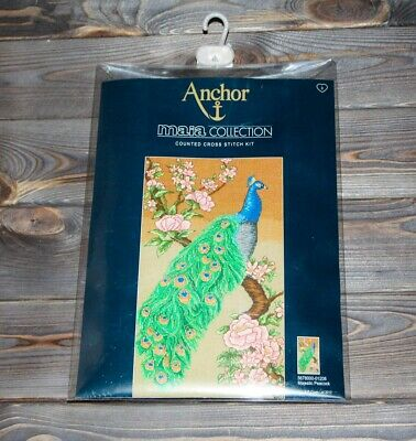 Anchor Maia Counted Cross Stitch Kit Majestic Peacock 5678000-01208