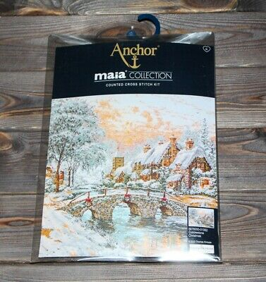 Anchor Maia Counted Cross Stitch Kit Cobblestone Christmas 5678000-01062