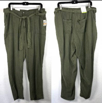 Style & Co Straight-Leg Pants Mid Rise Comfort Waist Olive Green NWT