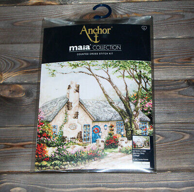 Anchor Maia Counted Cross Stitch Kit Morning Glory Cottage 5678000-01080