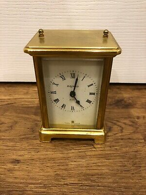 Antique Bayard 8-day brass and glass carriage clock For Repair Or Spares