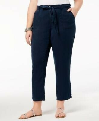 Style & Co Straight-Leg Pants Mid Rise Comfort Waist Blue NWT