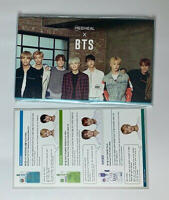 MEDIHEAL BTS SPECIAL KIT No Mask Sheet Only Photo Card Photocard 14pcs set