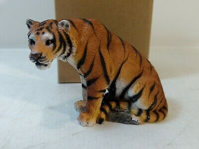Encore Group Living Stone Tiger Playful Resin Figurine hd1893