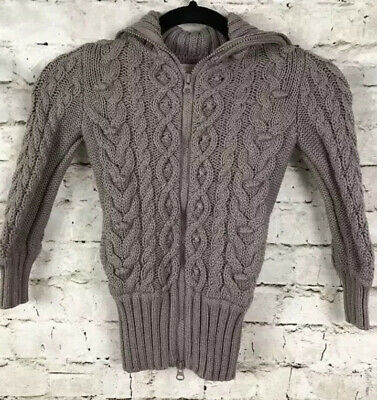 Stella Mccartney For Baby Gap Toddler Cable Knit Sweater Jacket 4 Year Old Taupe