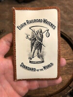 Elgin Railroad Pocket Watches Pouch Vintage Rare Protector Standard Or The World
