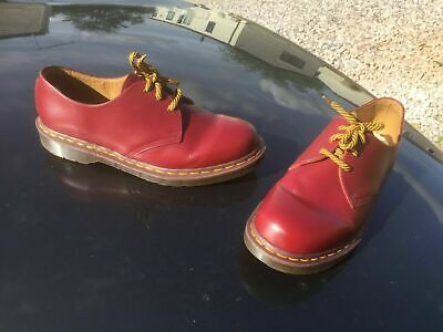 Dr Martens 1461 oxblood leather shoes UK 9 EU 43 Made in England