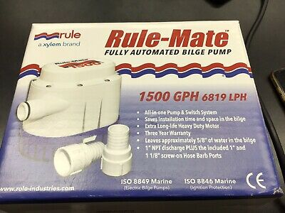 1500 GPH Rule Mate Marine Automated Bilge Pump RM1500A