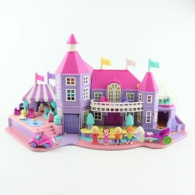 POLLY POCKET 1994 LIGHT UP Magical Mansion *COMPLETE w/ 5 FLAGS*