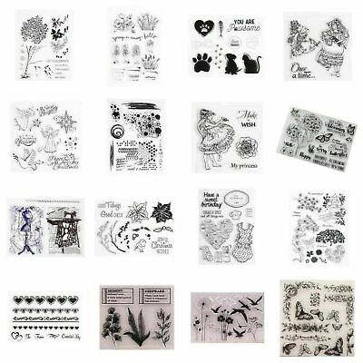 20 Styles Silicone Clear Rubber Stamps Seal Scrapbooking Craft Album Z8H3 D W8L1