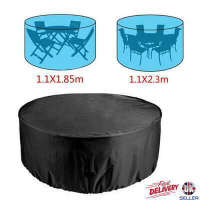 Large Round Garden Rattan Outdoor Furniture Cover Patio Table Shelter 4/6 Seater