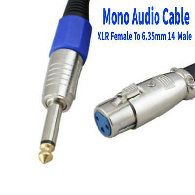 XLR Female To 6.35mm 1/4 '' Male Microphone Mono Audio Cable TRS Jack Lead/Mic