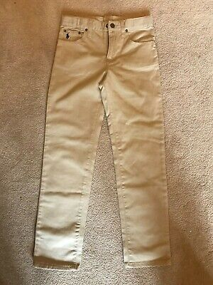 Boy's Polo Ralph Lauren Khaki Jeans-Skinny Fit-Adjustable Waist Age 7 Brand New