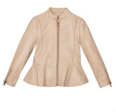 Ted Baker - Girls' light pink leather jacket BNWT RRP £135 BNWT