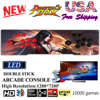 2020 NEW! Pandora Box 12S Arcade Console Support  3188 Video Games Double Sticks
