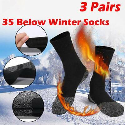 3 Pairs 35 Below Winter Warm Socks Aluminized Fiber Thermal Long Socks Women Men
