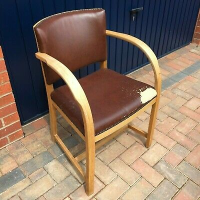 Vintage/mid century small bent wood arm chair - Collect from Chepstow.