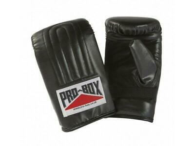Pro Box Bag Mitts Boxing Training Gloves PU - Black