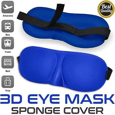 3D Eye Sleep Mask Travel Eyepatch Soft Padded Shade Cover Rest Relax Blindfold