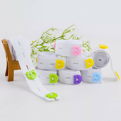 10Pcs/Pack Infant Baby Elastic Adjustable Nappy Fasteners Diaper Fixed Belt Band