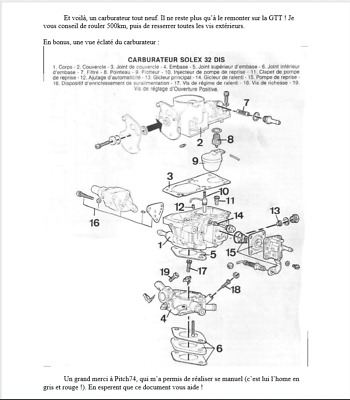 renault 5 gt turbo manuale carburatore solex 32 dis in francese