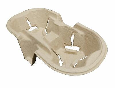 2 x Cup Holders Biodegradable Carrier Moulded Pulp Fibre (720)