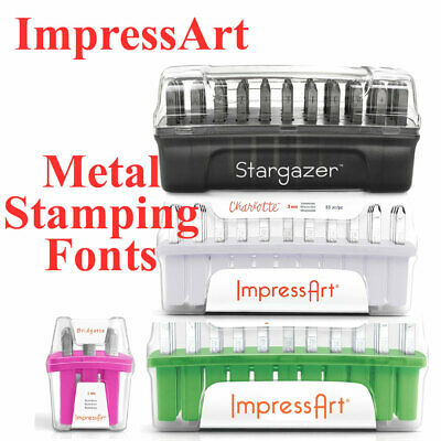ImpressArt Metal Stamping Fonts - all brand new stock at amazing prices!