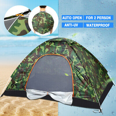 Camping Waterproof Outdoor 2 Person Folding Auto Tent Camouflage Hiking Travel