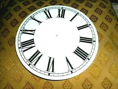 "Round Paper (Card) Clock Dial - 9"" M/T - Roman - MATT WHITE -  Parts/Spares"
