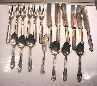 19 Pieces Of Vintage Silver Ware-Various Makers And Patterns