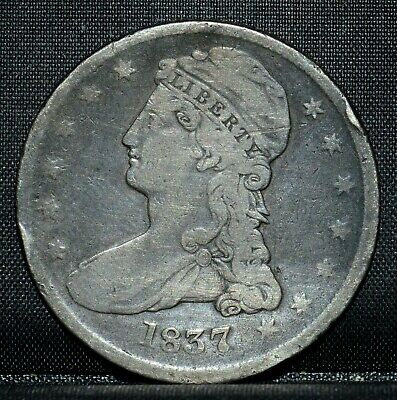 1837 Capped Bust Half Dollar ✪ Vf Details ✪ 50C Very Fine L@@K Now ◢Trusted◣