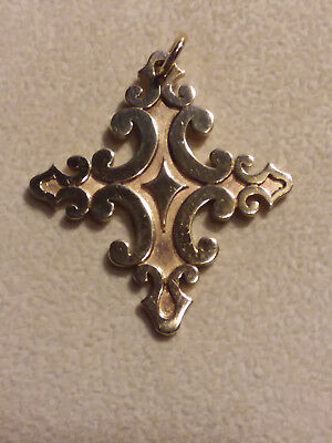 James Avery. Scrolled Cross Pendant, 14K. Retired, Rare!!! (20003779)