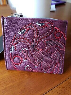 DANIELLE NICOLE GAME OF THRONES  Coin Purse BURGANDY
