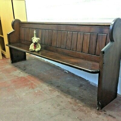 Church Pew Settle Bench Pine Free Manchester Delivery