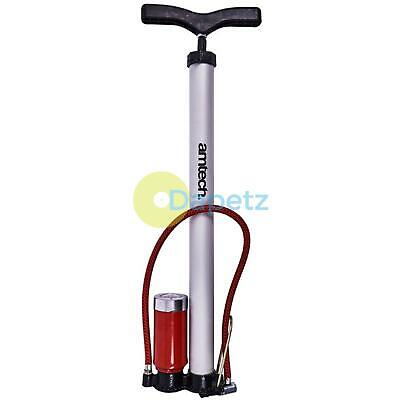 New Hand Pump With Gauge Inflate Cars Motorcycles Bicycles 450Mm Tyre Tire Heavy