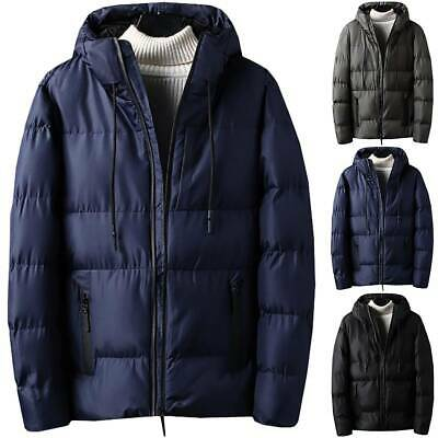 Mens Padded Puffer Bubble Coat Winter Warm Jacket Zip Up Hoodies Quilted Outdoor
