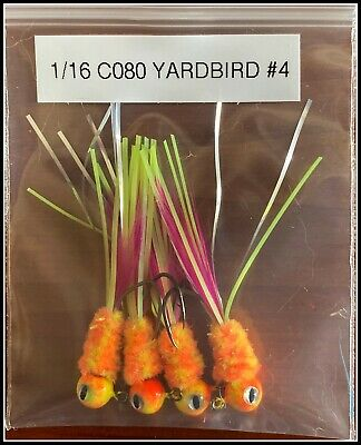 Hand Tied Crazy Legs Crappie Jigs Made in The USA 1//16th Ounce #4 or 6 Hook New