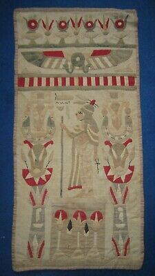 a lovely 1920s ancient egyptian designed applique applied pane / wall hangingl