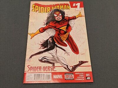 Spiderwoman 1 + 2 Mystery Variant Sketch Signed Original Comic Books!